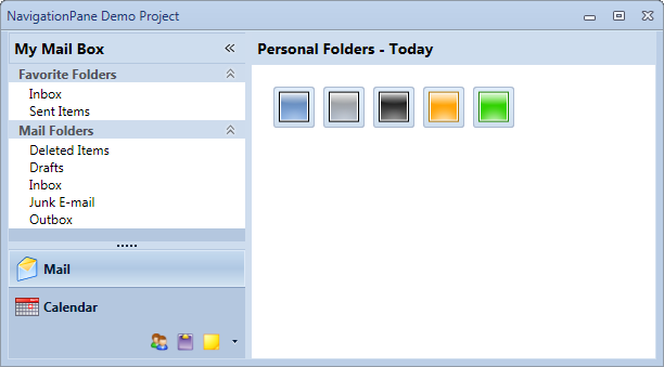 Office 2007 style WPF Navigation Pane Control