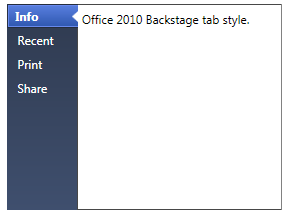 WPF Super Tab Control with 6 visual styles