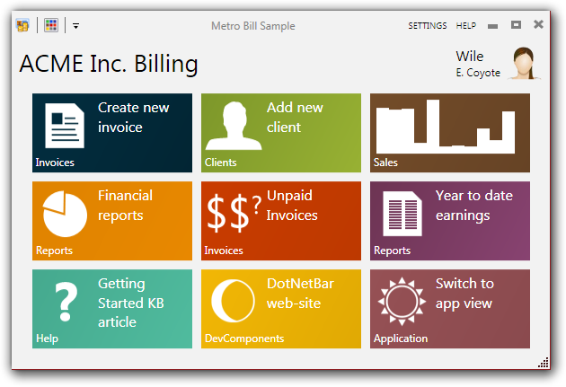 Wpf metro controls for Wpf menu style template