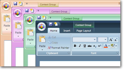 how to change background color presentation open office